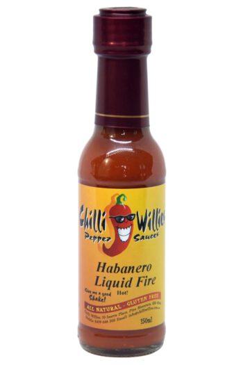 Chilli Willies Habanero Liquid Fire Hot Sauce 150ml