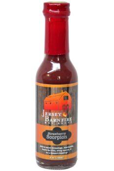 Jersey Barnfire Strawberry Scorpion Hot Sauce 148ml