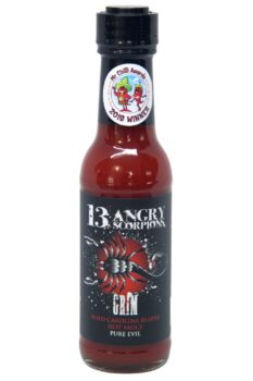 13 Angry Scorpions Grim Carolina Reaper Hot Sauce 150ml