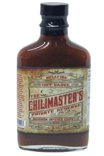 The Chilimaster's Private Reserve Bourbon Infused Chipotle Hot Sauce 200ml