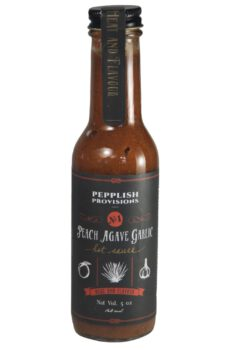 Pepplish Provisions Peach Agave Garlic Hot Sauce 148ml