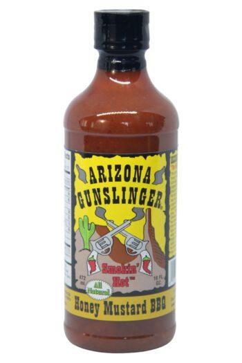 Arizona Gunslinger Smokin' Hot Honey Mustard BBQ Sauce 472ml