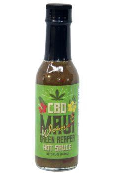 CaJohn's Maui Wowie Green Reaper CBD Hot Sauce 148ml