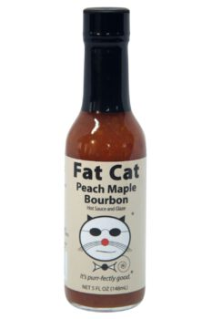 Fat Cat Peach Maple Bourbon Hot Sauce & Glaze 148ml
