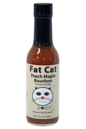 Fat Cat Peach Maple Bourbon Hot Sauce & Glaze 148ml