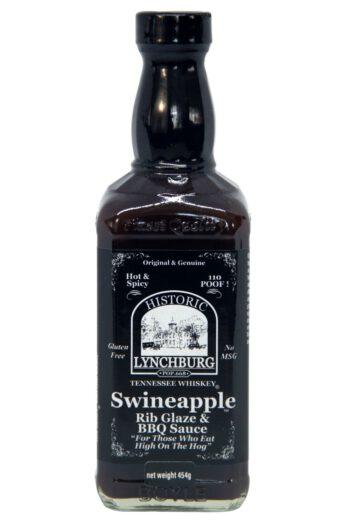 Historic Lynchburg Tennessee Whiskey Swineapple Hot Rib Glaze & BBQ Sauce 454g
