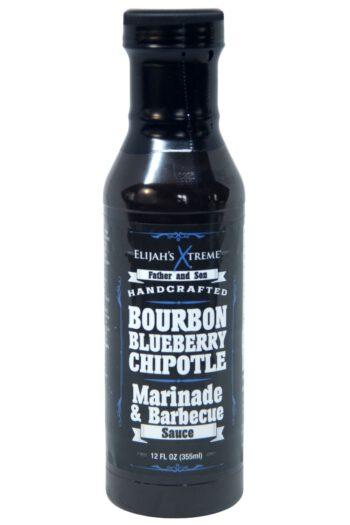 Elijah's Xtreme Bourbon Blueberry Chipotle BBQ Sauce 355ml