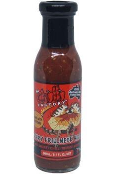 The Chilli Factory Fiery Frillneck Hiss Smokey Chilli Tomato Sauce 240ml